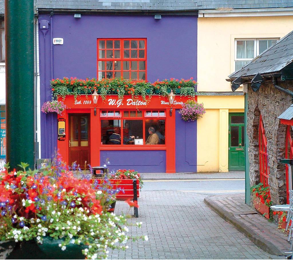 Kleurrijke winkel met bloemen in Kinsale