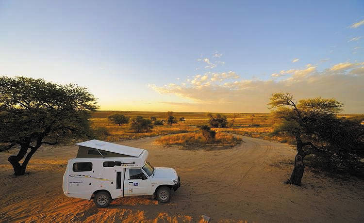 Camper in Kgalagadi Transfrontier Park