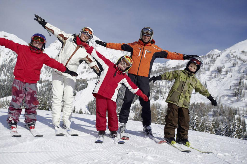 Familie wintersfeer