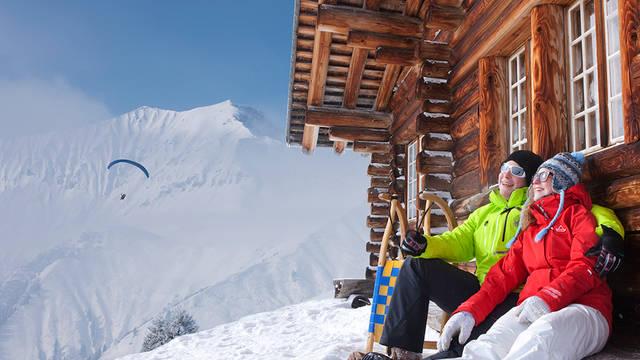 Wintersportchalets Zwitserland